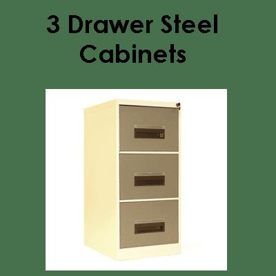 Office 3 door steel cabinets