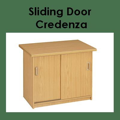 Office Sliding Door Credenza