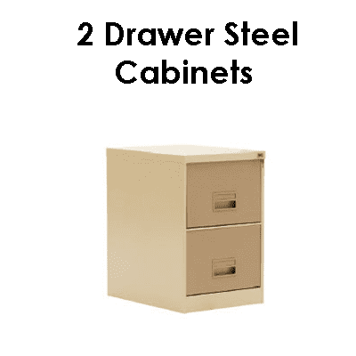 Office 2 drawer steel cabinets