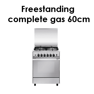 Eurogas Freestanding complete gas 60cm