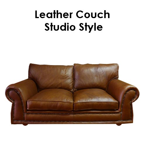 Beach House Leather Couch-Studio-Style
