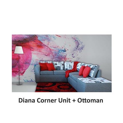 Beach house Diana Corner Unit Ottoman