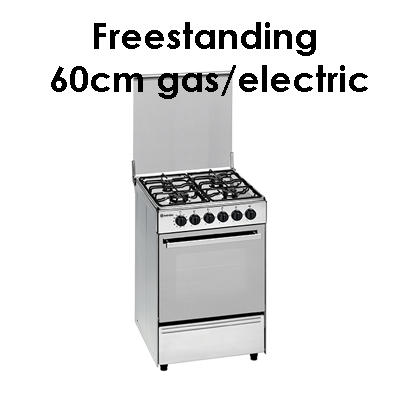 Meireles freestanding 60cm gas electric
