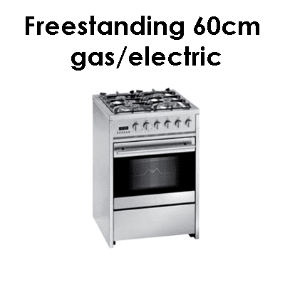 Meireles freestanding 60cm gas electric