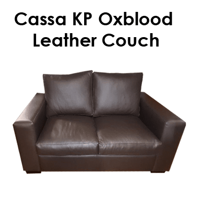 Cassa KP Oxblood Leather Couch