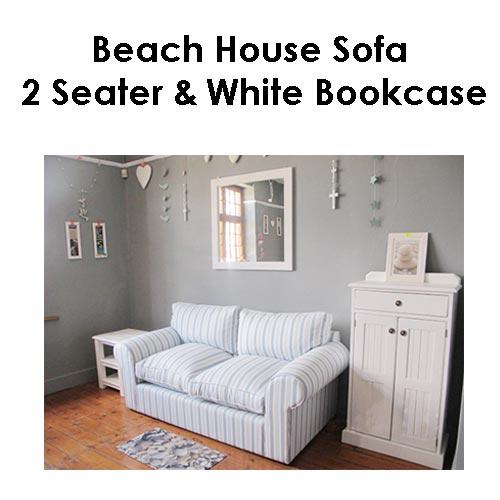 Beach house sofa 2 seater White Bookcase