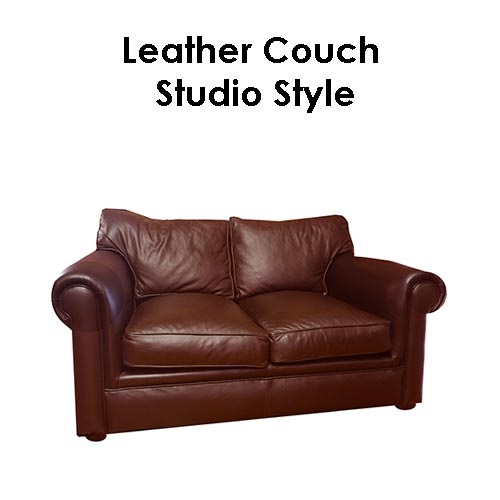 Beach house Leather Couch